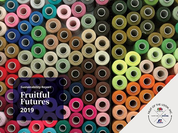 Fruit of the Loom 2019 Fruitful Futures Sustainability Report cover